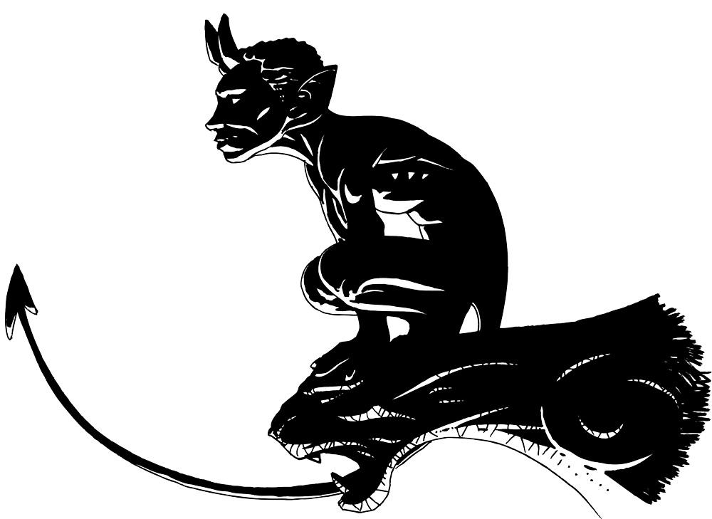 Diable Du Pont Valentré Dessin Noir Et Blanc Reicluos