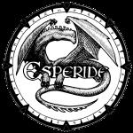 Dragon se melant aux lettres du logo Esperide : version 3