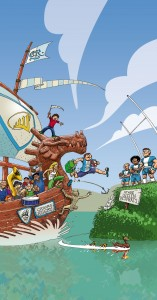 Illustration Cahors Rugby - colorisation finale