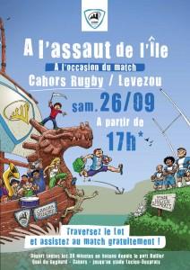 Illustration Cahors Rugby - l'affiche finale