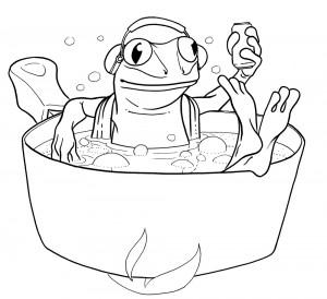 La grenouille qui ne savait pas qu'elle était cuite (dessin)