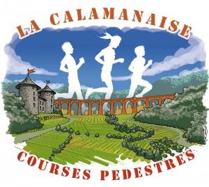 """Course pédestre """"La Calamanaise"""" : illustration 2016 - version 1"""