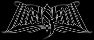 "calligraphie ""Skull"" sur fond sombre"