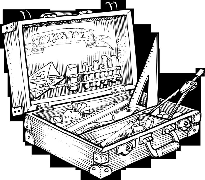 Super boîte à outils d'écolier