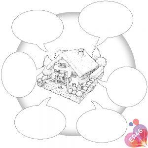 Dessin pour EP46 : Les régles de la maison - version à compléter