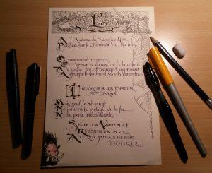 Le manuscrit du sanglier noir, avant vieillisssement