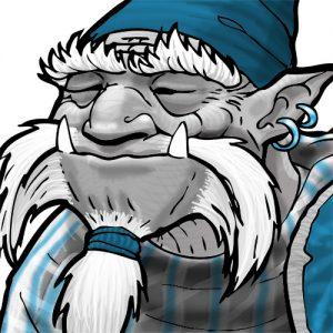 Papy Troll : détail visage