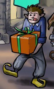 Calendrier de l'Avent : le lutin porteur de cadeau