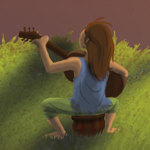 Fête de l'Enfance : enfant musicien guitariste