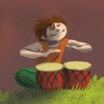 Fête de l'Enfance : enfant musicien percussionniste