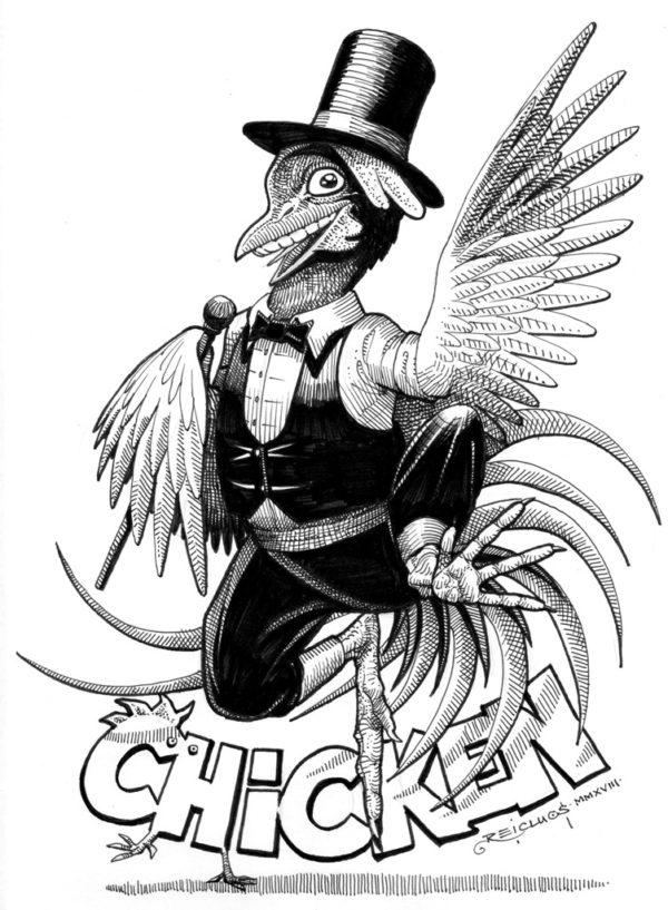 Chicken / Poulet - Inktober 2018