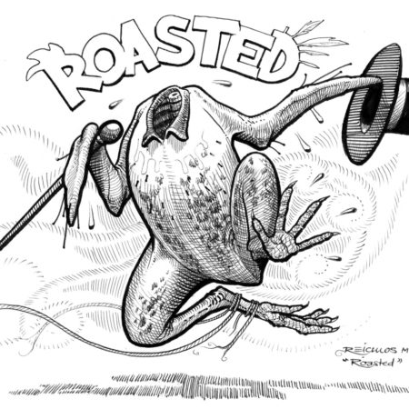 inktober 2018 - Roasted Chicken / Poulet rôti
