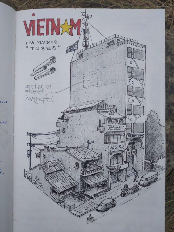 Carnet de vadrouille 2019 : au Vietnam, les maisons tubes de Hanoï