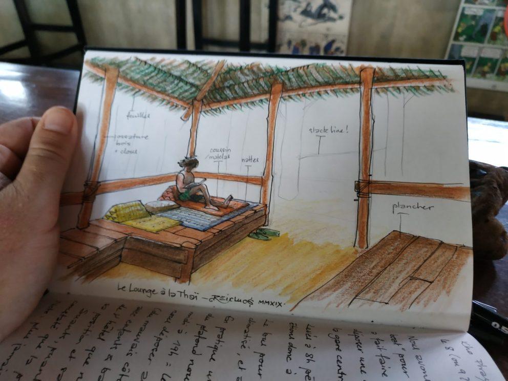 Carnet de vadrouille 2019 : bar-restaurant lounge à Tonsaï, Thaïlande