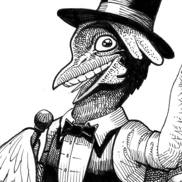 Chicken / Poulet - Inktober 2018 - détail