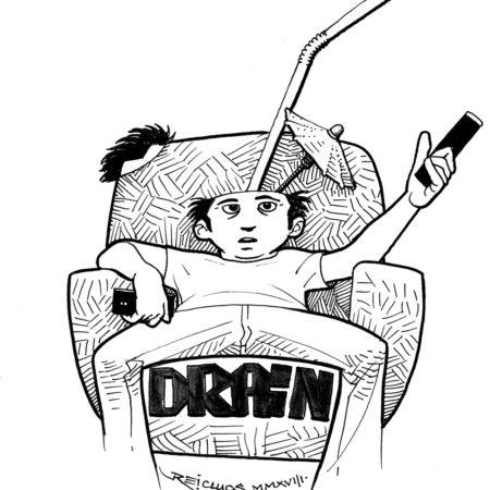 """Vidange de tête avec écrans ( Inktober 2018 jour 21 : """"Drain"""" / """"Vider"""" )"""