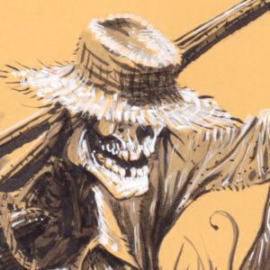 Festival des moissons - Harvest Festival - Détail : le squelette du fermier