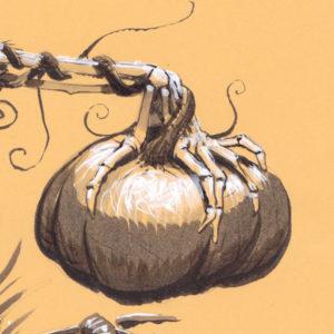 Festival des moissons - Harvest Festival - Détail : la main et la citrouille