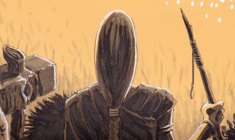 """Rituels antiques - """"Ancient rituals"""" - détail : l'archer elfe"""