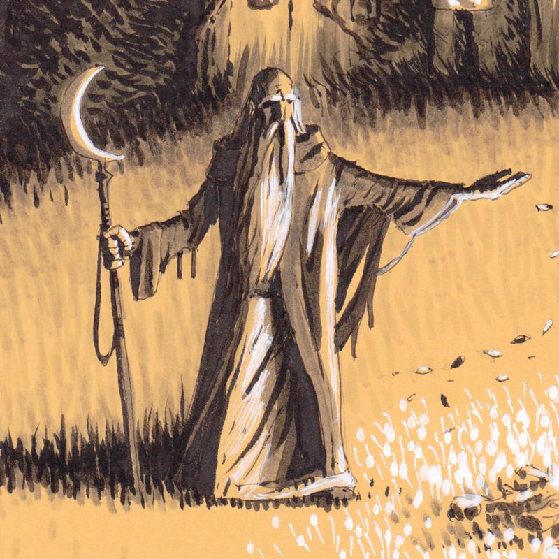 """Rituels antiques - """"Ancient rituals"""" - détail : le druide"""
