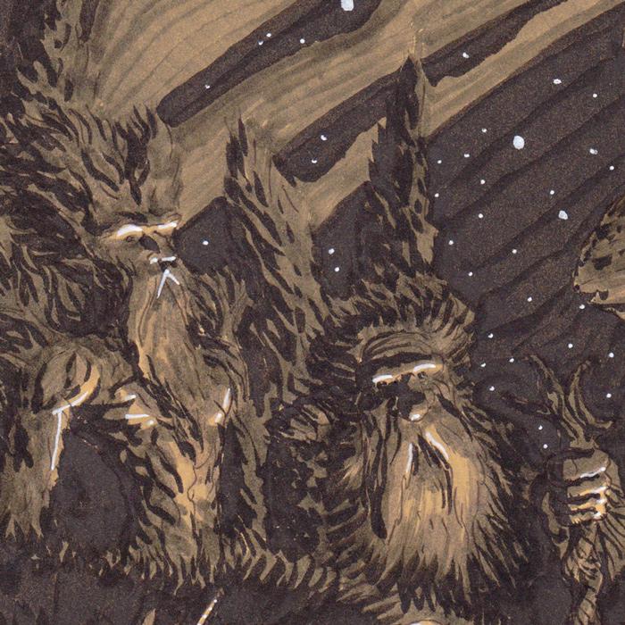 """Rituels antiques - """"Ancient rituals"""" - détail : les Ents"""