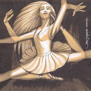 Portrait confiné 2 - danseuse étoile