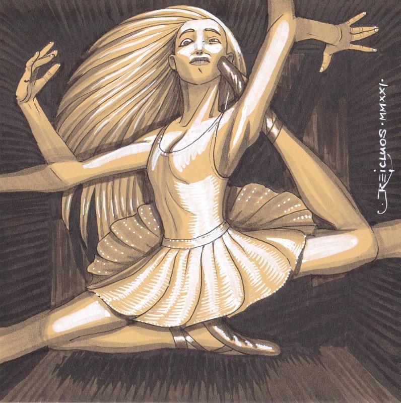 Portrait confiné 2 - la danseuse